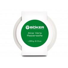 Jabón de afeitar Aloe Vera en plato de porcelana