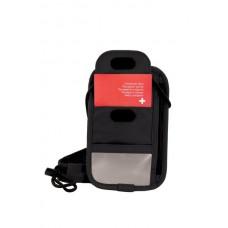 4.0 Bolsa de seguridad negra para documentos RFID, nylon