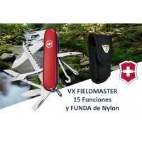 Paquete: Navaja Victorinox Fieldmaster, Roja Con Funda