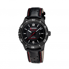 Reloj Roadster Black Night Wenger Piel Negro