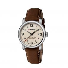 Reloj Urban Metropolitan Wenger, Correa de Piel Cafe
